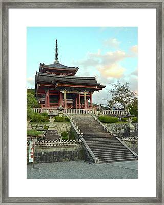 Framed Print featuring the photograph Kyoto Temple by Corinne Rhode