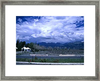 Kyrgyzstan Mountains Framed Print by Wes Shinn