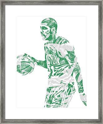 Kyrie Irving Boston Celtics Pixel Art 40 Framed Print