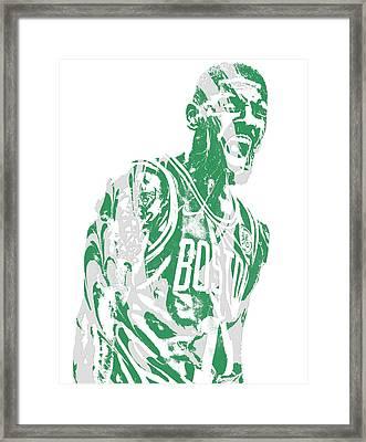Kyrie Irving Boston Celtics Pixel Art 42 Framed Print