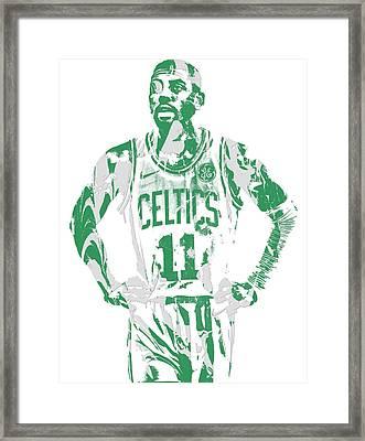 Kyrie Irving Boston Celtics Pixel Art 8 Framed Print
