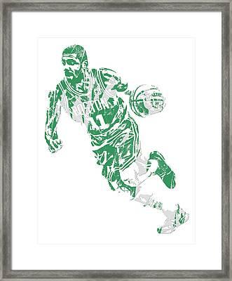 Kyrie Irving Boston Celtics Pixel Art 9 Framed Print