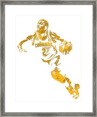 Kyrie Irving Cleveland Cavaliers Pixel Art 11 Framed Print