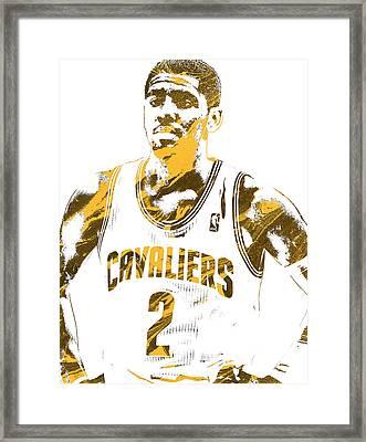 Kyrie Irving Cleveland Cavaliers Pixel Art 3 Framed Print