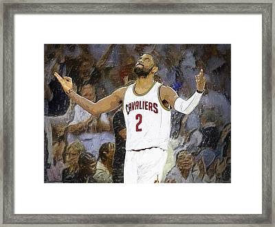 Kyrie Irving Framed Print by Semih Yurdabak