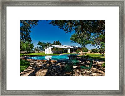 L B J Ranch House Framed Print