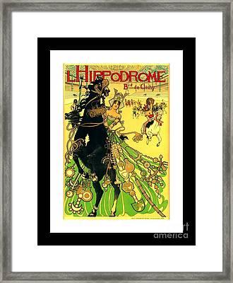 L Hippodrome 1905 Parisian Art Nouveau Poster II Manuel Orazi 1905 Framed Print