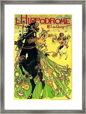 L Hippodrome 1905 Parisian Art Nouveau Poster Manuel Orazi 1905 Framed Print
