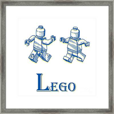 L Is For Lego Framed Print by Edward Fielding