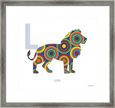 L Is For Lion Framed Print