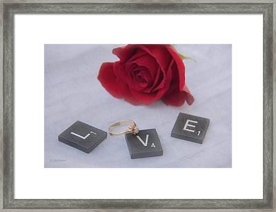 L O V E Framed Print by Pamela Williams