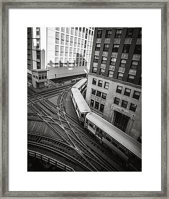 L Train In Chicago Framed Print