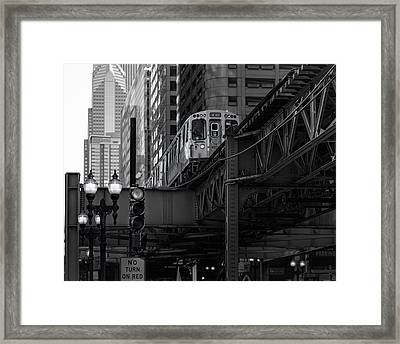 L Train Framed Print