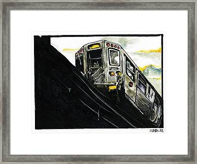 L-train Nyc Framed Print