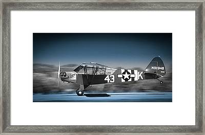 L4 Grasshopper On The Take-off Roll Framed Print by Phil Rispin