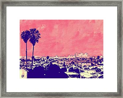 Framed Print featuring the drawing La 001 by Giuseppe Cristiano