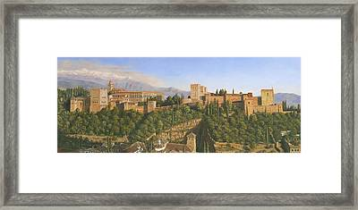 La Alhambra Granada Spain Framed Print by Richard Harpum