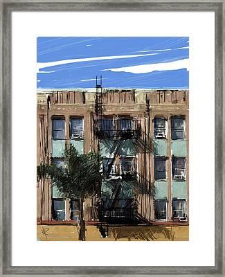 La Apartment Building Framed Print