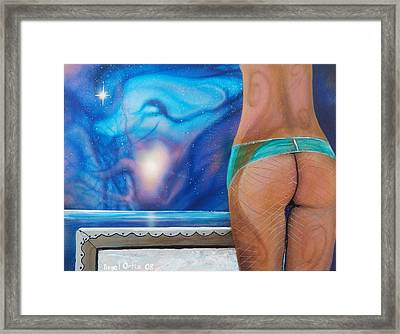 La Bailarina Framed Print by Angel Ortiz