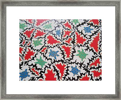 Framed Print featuring the painting La Bandiera Di Tristezza  by Beth Akerman