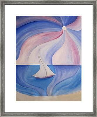 La Barca A Vela Framed Print by Alberto V  Donati
