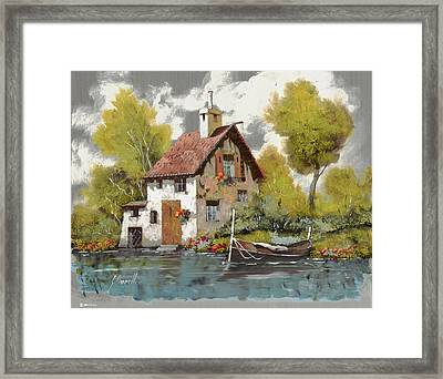La Barca Framed Print by Guido Borelli