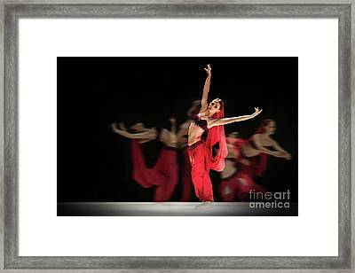 Framed Print featuring the photograph La Bayadere Ballerina In Red Tutu Ballet by Dimitar Hristov