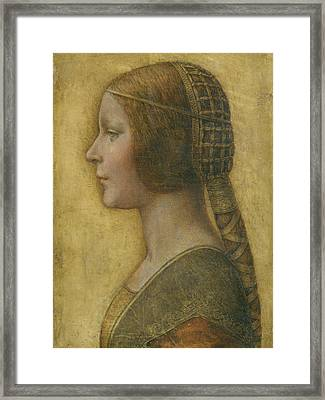 La Bella Principessa - 15th Century Framed Print by Leonardo da Vinci