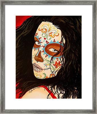 La Belleza En El Viento Framed Print