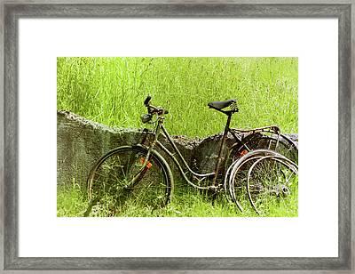 La Bicyclette Framed Print