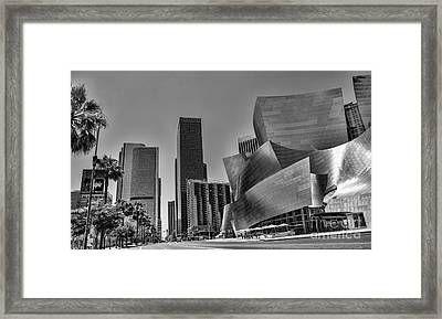 La Black N White Framed Print by Chuck Kuhn