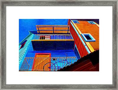 La Boca Looking Up Framed Print