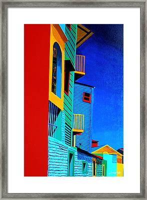 La Boca Street Scene Twelve Framed Print