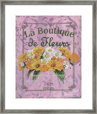 La Botanique 1 Framed Print by Debbie DeWitt