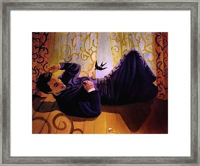 La Caida Framed Print by Mix Luera