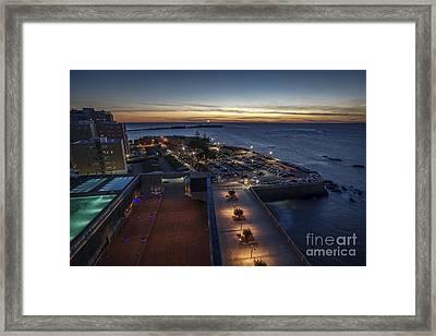 La Caleta View From Parador Cadiz Spain Framed Print