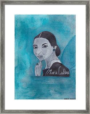 La Callas Framed Print by Anne Bazabidila