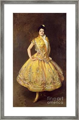 La Carmencita Framed Print by John Singer Sargent