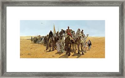 La Carovana Framed Print by Guido Borelli