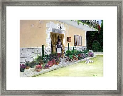 La Casa De Nonna Loreta Framed Print by Albert Puskaric