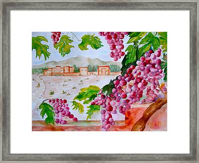 Framed Print featuring the painting La Casa Del Vino by Sharon Mick