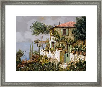 La Casa Giallo-verde Framed Print by Guido Borelli