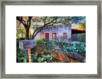 Framed Print featuring the photograph La Casa Lila by Barbara Manis