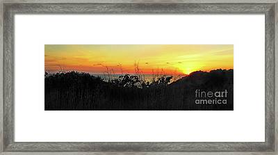 la Casita Playa Hermosa Puntarenas Costa Rica - Sunset A Panorama Framed Print by Felipe Adan Lerma