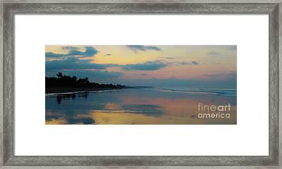 la Casita Playa Hermosa Puntarenas - Sunrise One - Painted Beach Costa Rica Panorama Framed Print