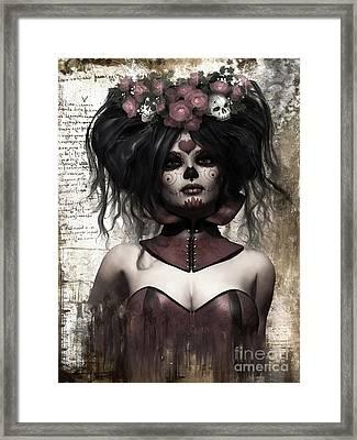 La Catrina Framed Print by Shanina Conway