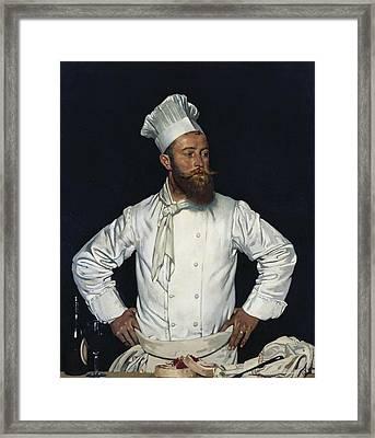 La Chef De L'hotel Chatham Paris Framed Print by Mountain Dreams