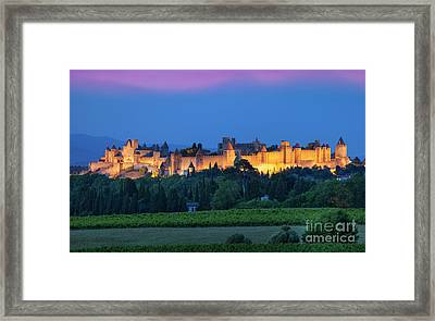 La Cite Carcassonne Framed Print by Brian Jannsen