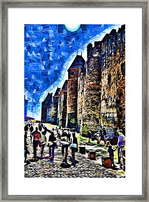 La Cite De Carcassonne 02 Paint Framed Print