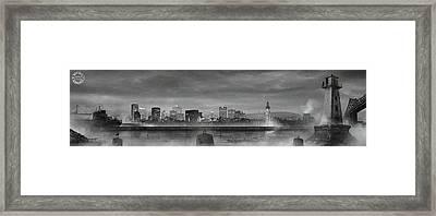 La Cite Lumiere Framed Print by Mirage Noir